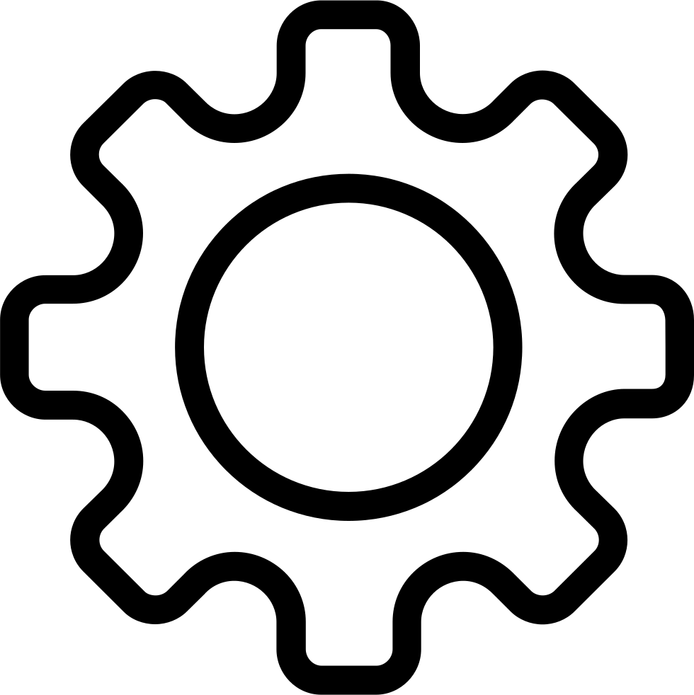 Svg gear three. Png icon free download