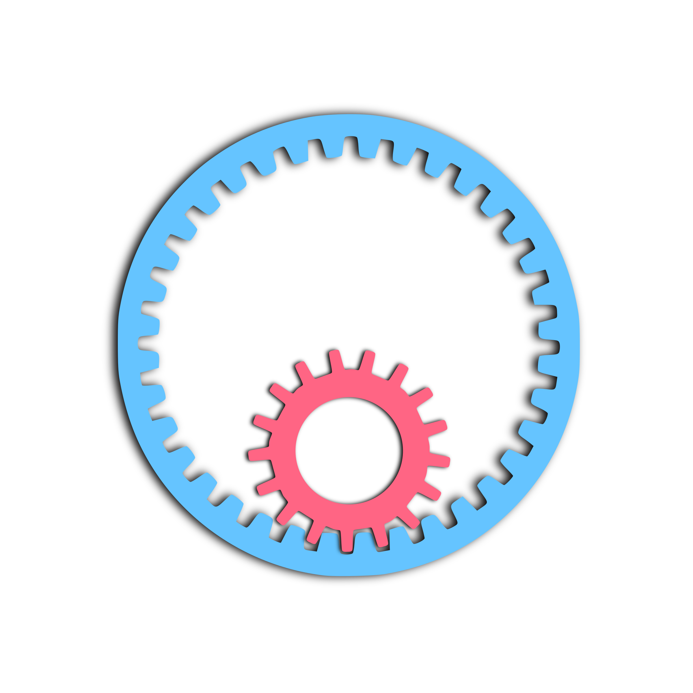 Transparent gear animated. Animation remix icons png