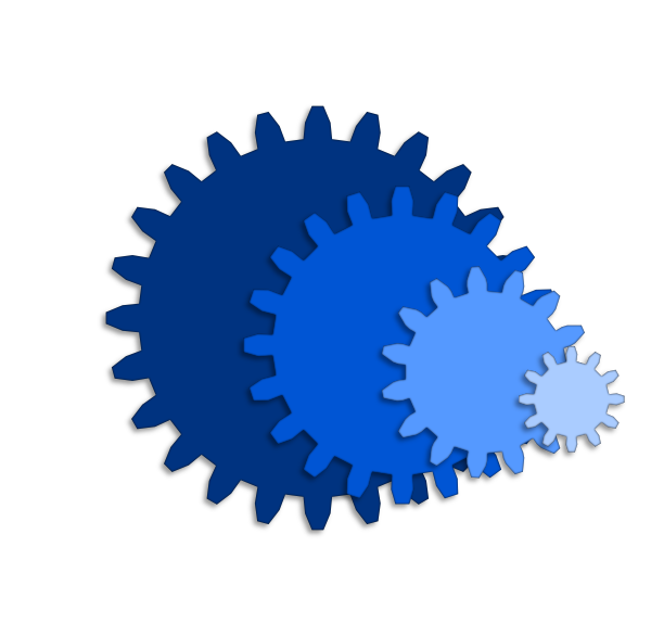 Svg gear file. Gears filing and silhouettes