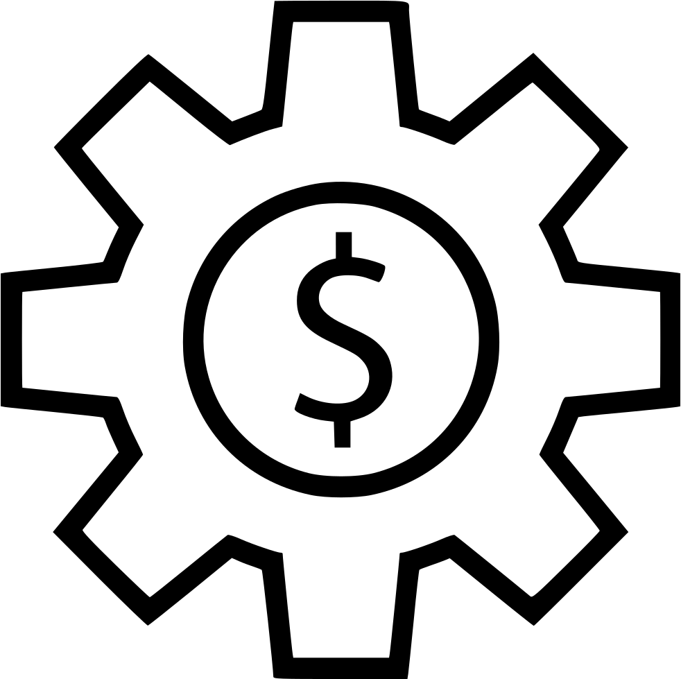 Svg gear line. Currency png icon free