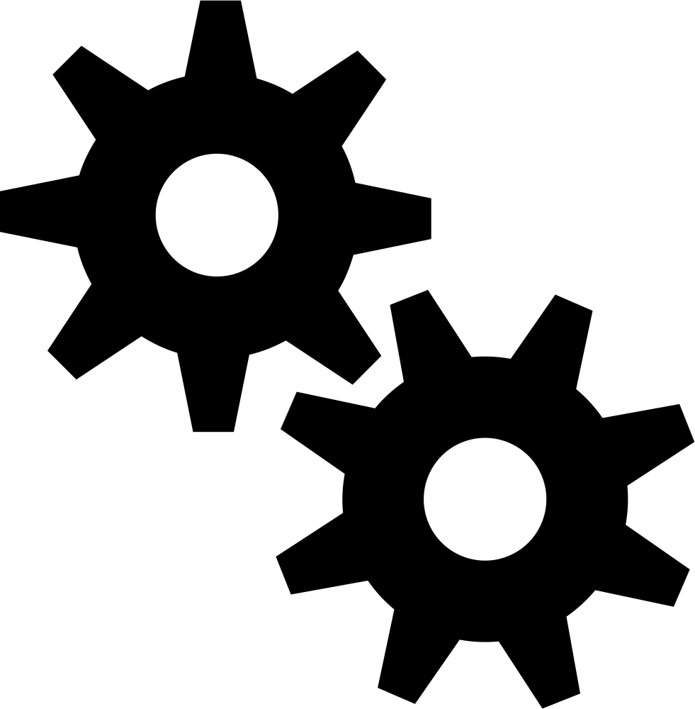 Svg gear jpeg. Two gears png icon