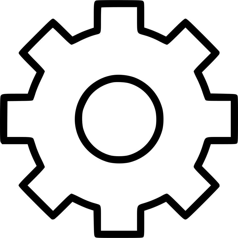Svg gear line. Png icon free download