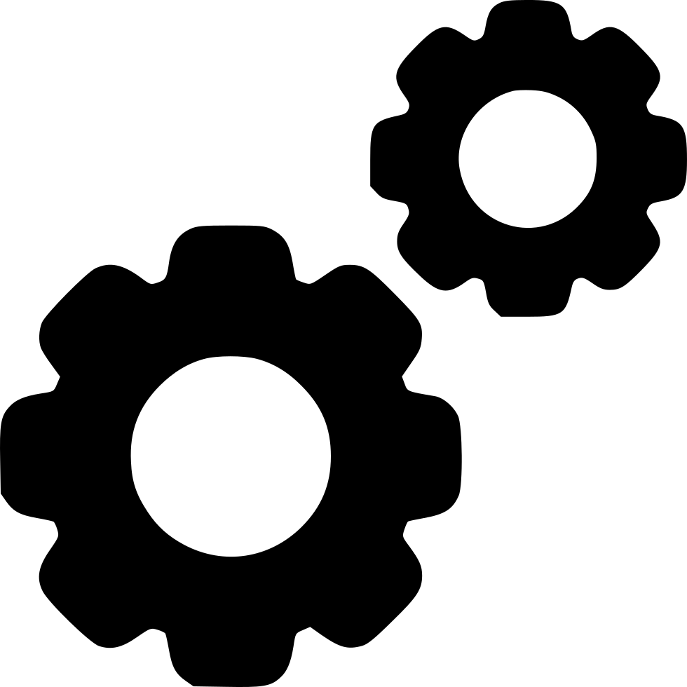 Svg gear pixelated. Settings gears png icon