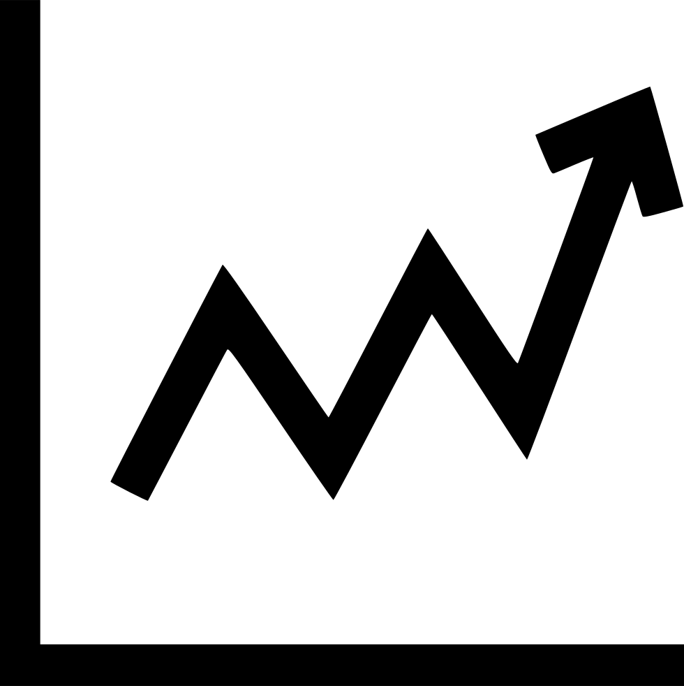 Svg graph designer. Chart up png icon