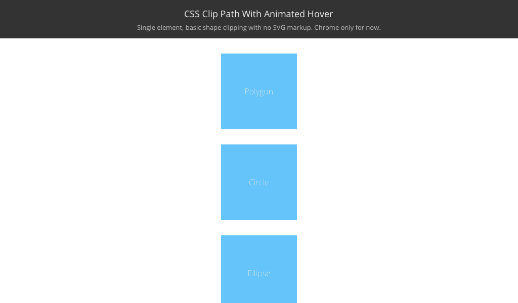 Svg hover. Css clipping path with