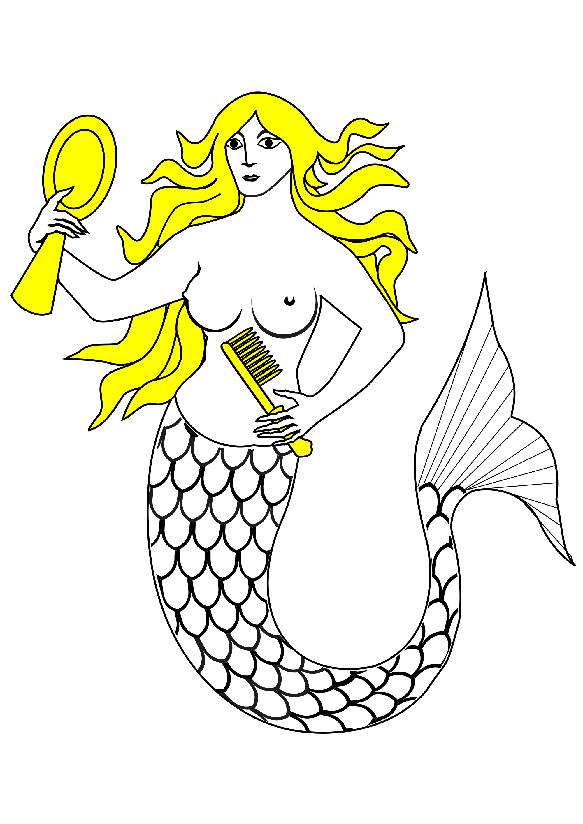 File element wikimedia commons. Svg mermaid clipart black and white stock