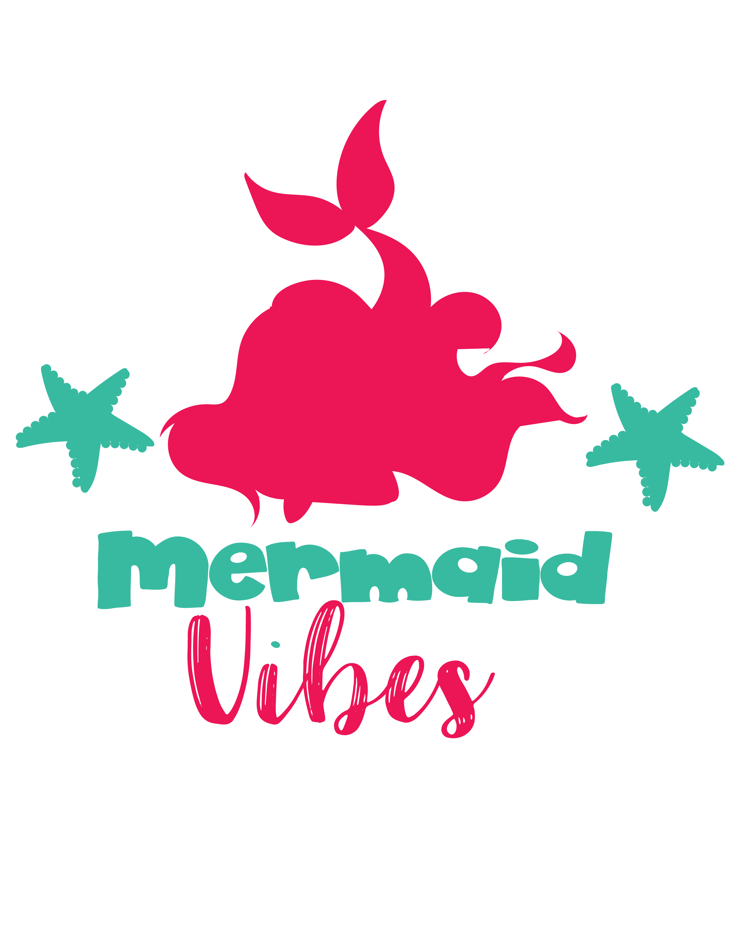 Svg mermaid. Vibes cutting files dxf