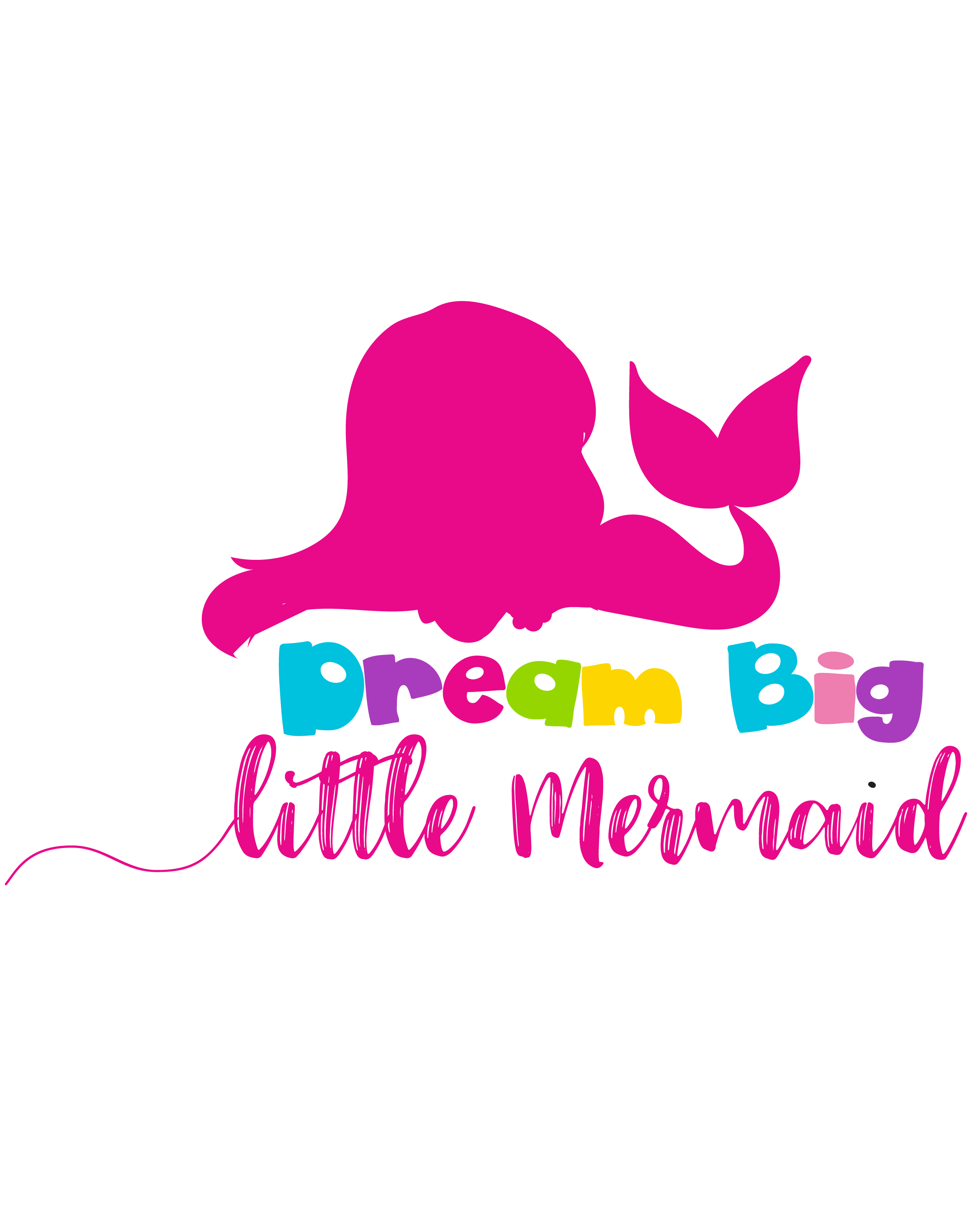 Dream big little cutting. Svg mermaid banner library library