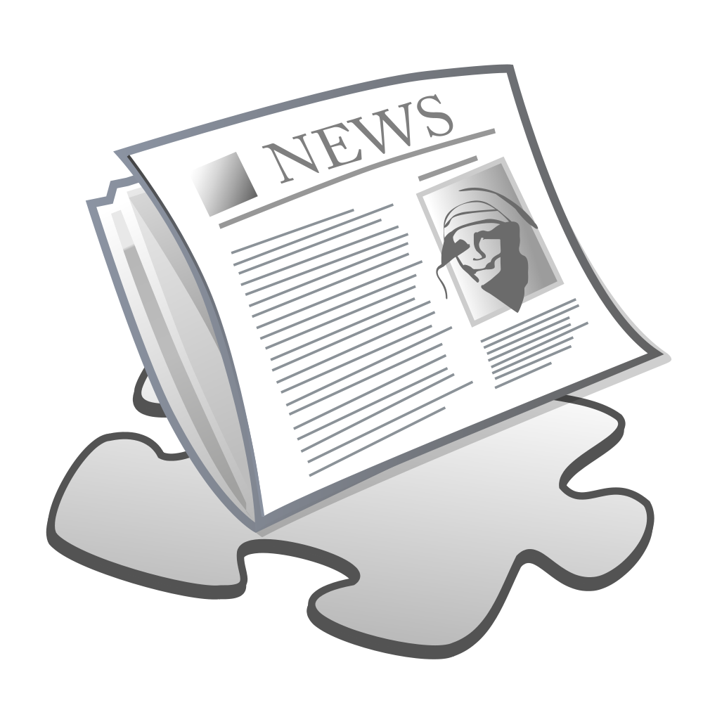 Svg newspaper clipart. File template wikimedia commons
