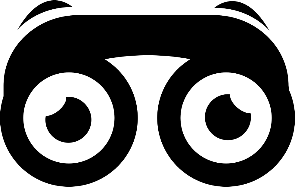 Svg objects binoculars. With eyes png icon