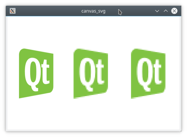 Svg objects canvas. Qt rasterization issue in