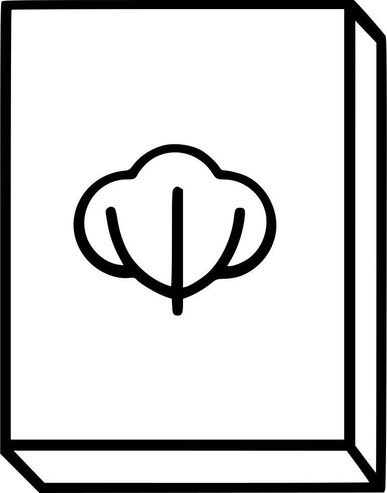 Cotton svg outline. Canvas png icon free