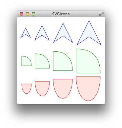 Svg paths. Java javafx and drawing