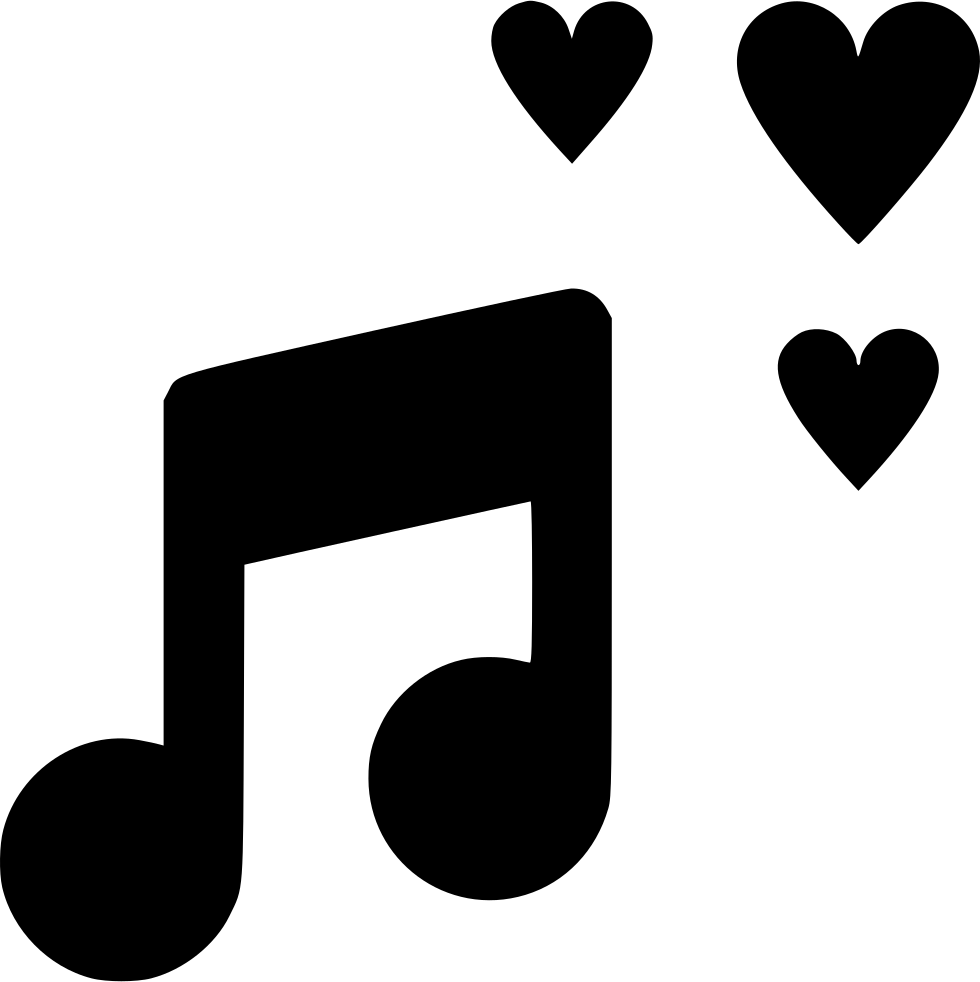 Svg preview love. Music png icon free