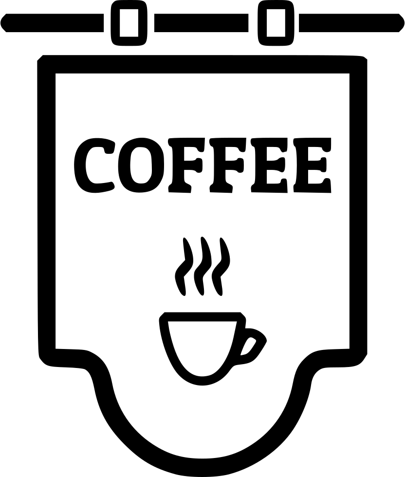 Svg shop png. Coffee sign icon free