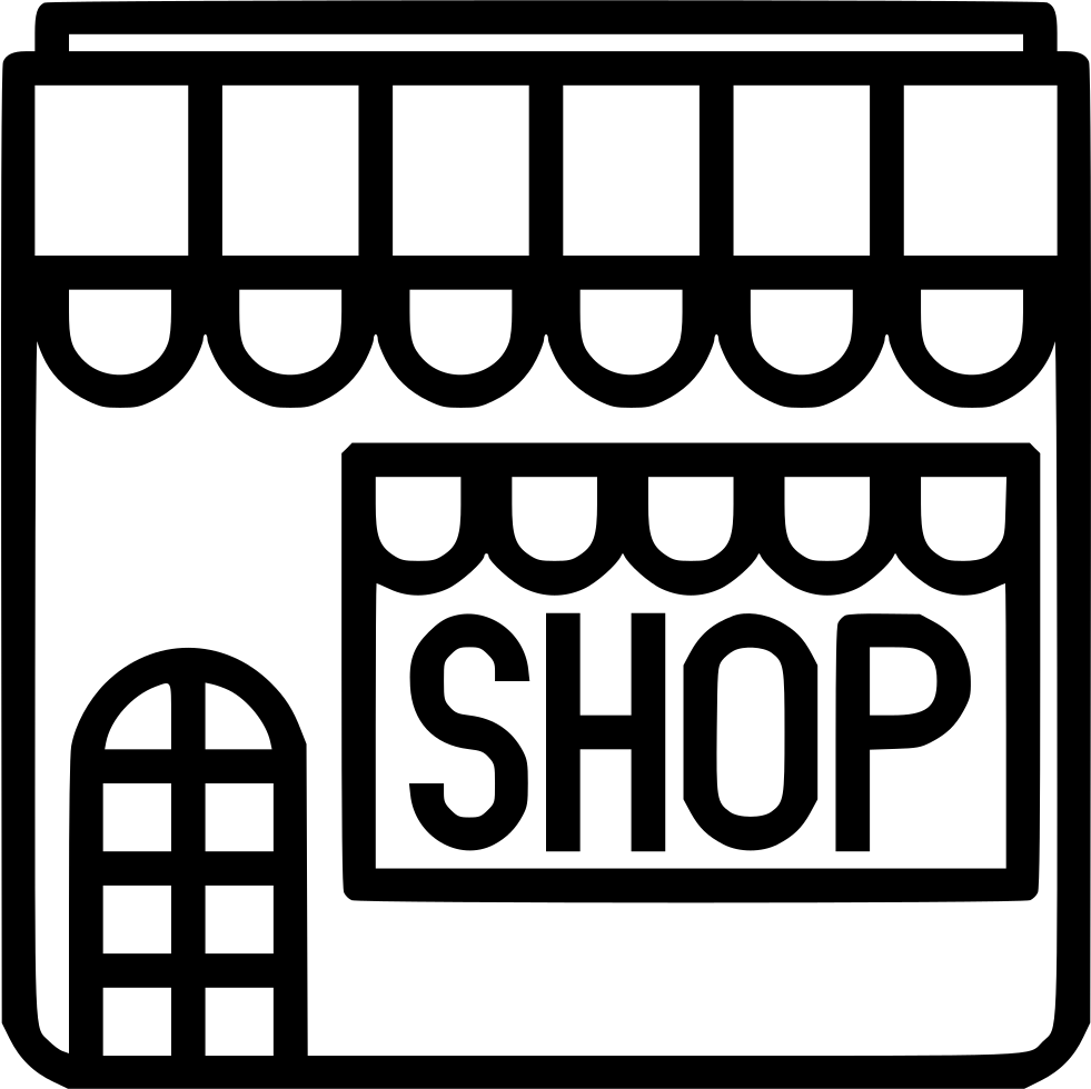 Svg shop retail. Store front restaruant png