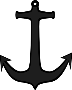 Svg silhouette anchor. Simple clip art at