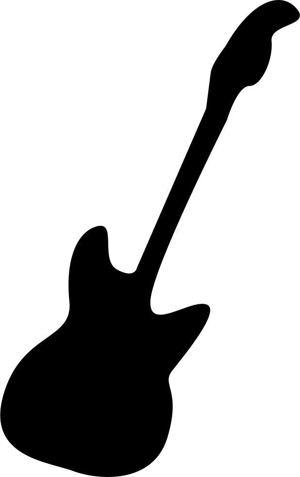 Svg silhouette bass. Electric guitar png icon