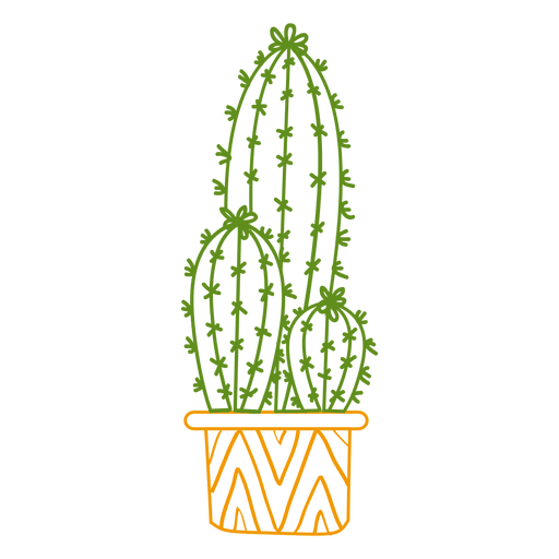 Svg silhouette cactus. Ornamented color transparent png
