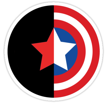 Svg silhouette captain america. Bucky and sticker files