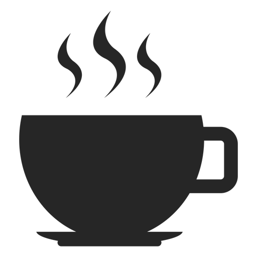 Vector cafe flat. Hot coffee cup icon