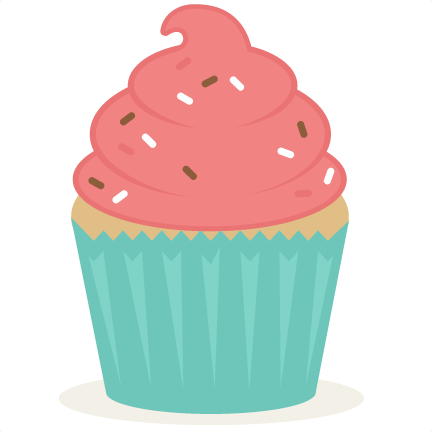 Svg silhouette cupcake. Scrapbook cut file cute