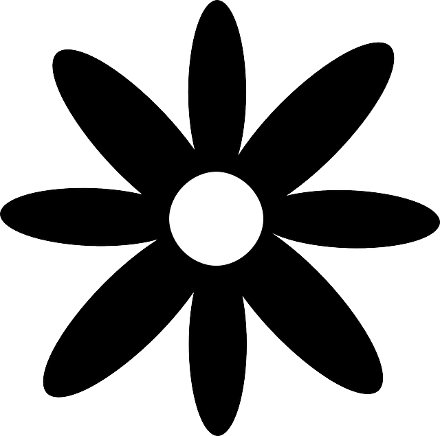 Svg silhouette daisy. Free image on pixabay