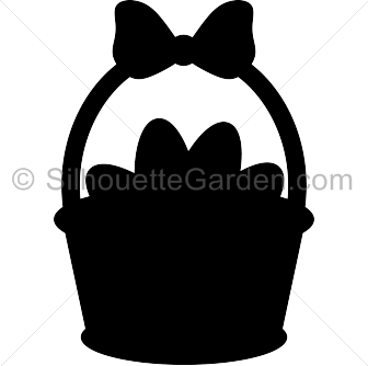 Basket . Svg silhouette easter black and white download