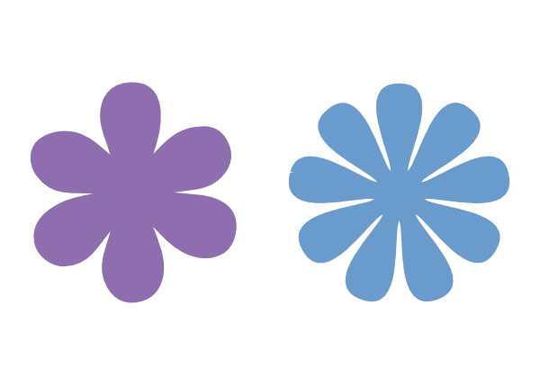 Svg silhouette flower. And petal files