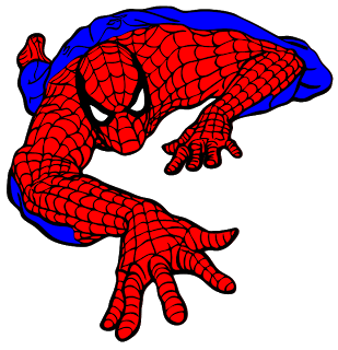 Svg silhouette spiderman. Every day little things