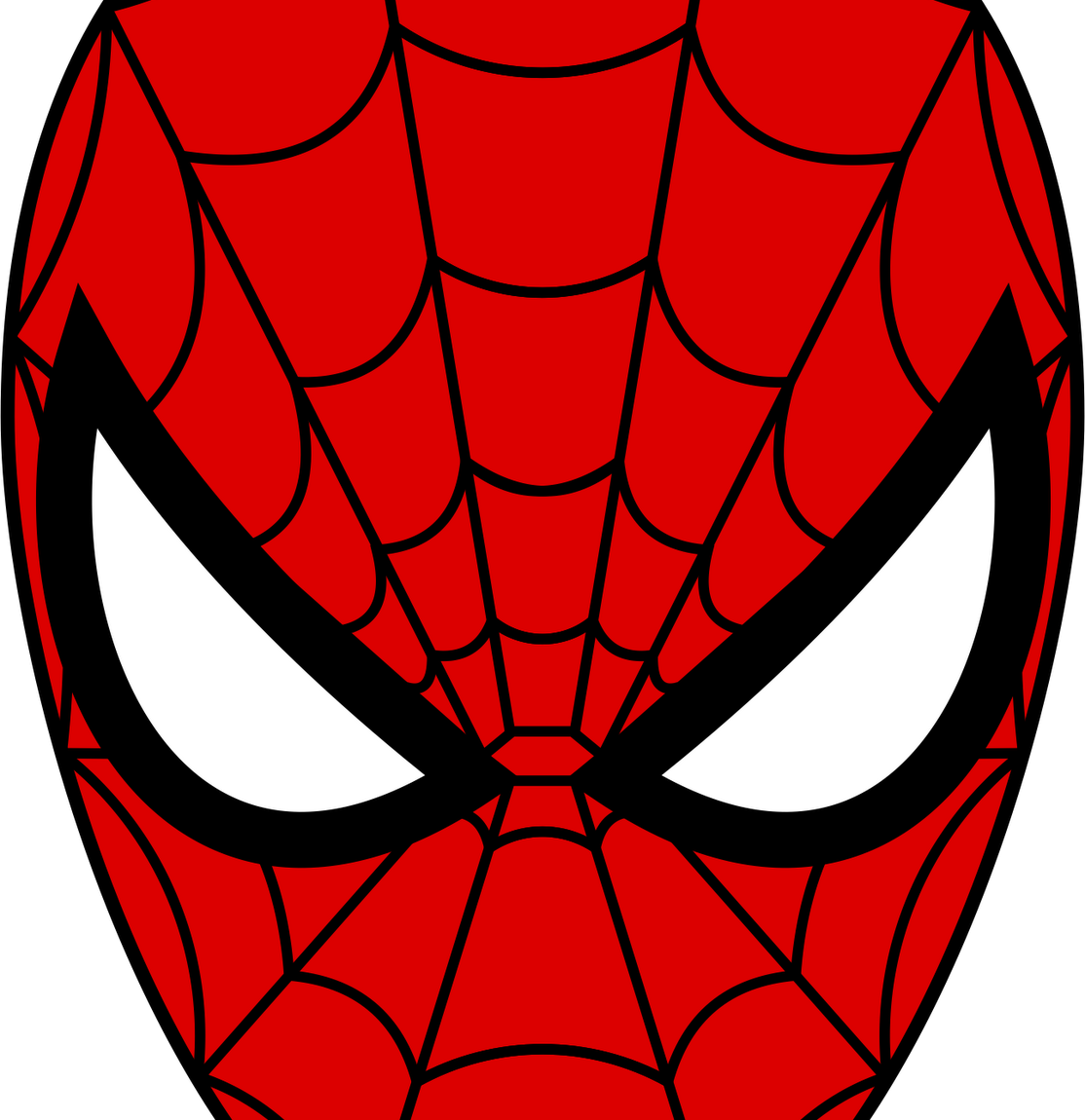 Svg silhouette spiderman. Face cut files for