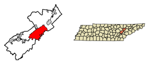 Tennessee drawing physiographic. Oak ridge wikipedia location