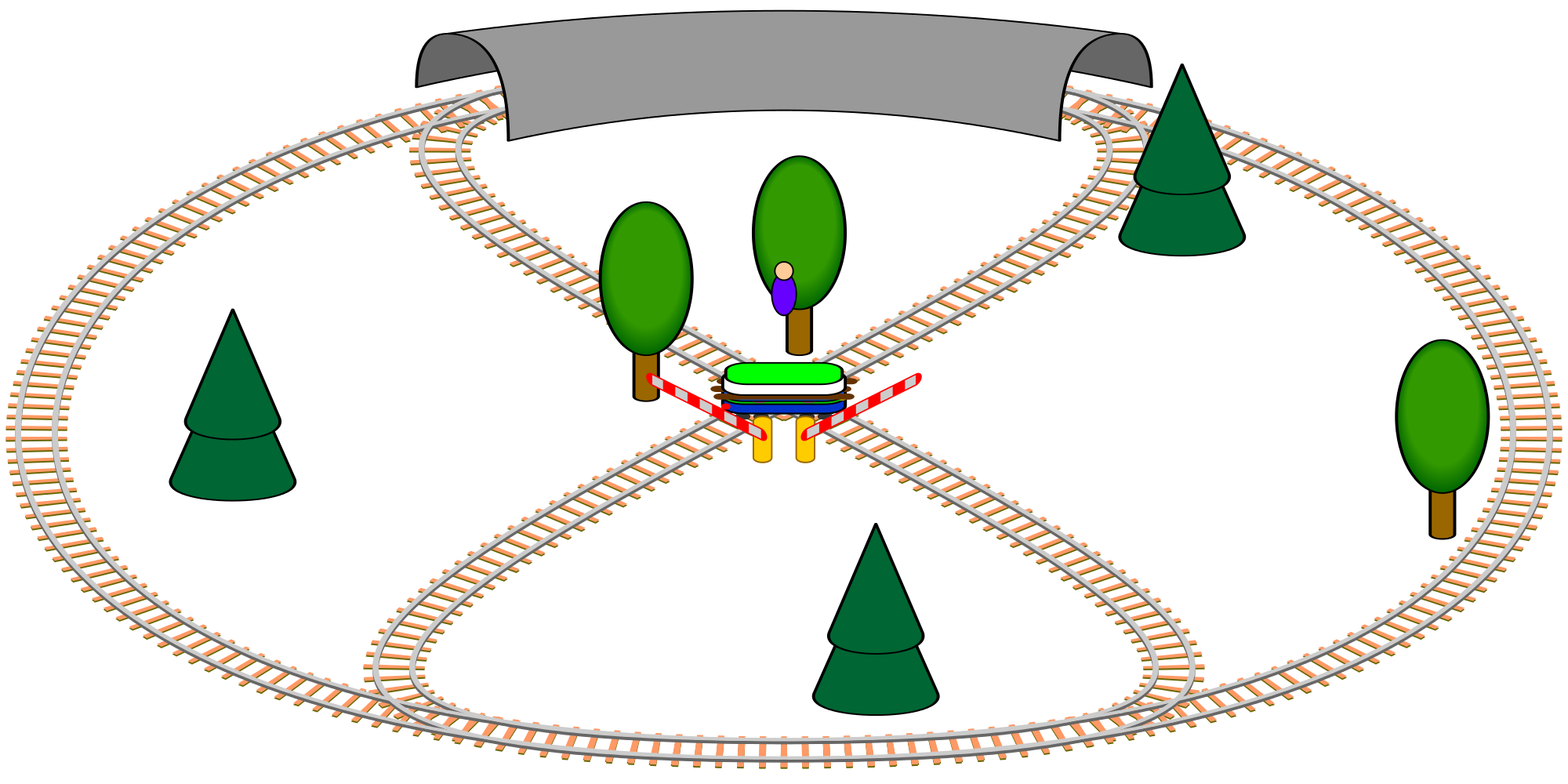 Vector path animated. File toy train smil