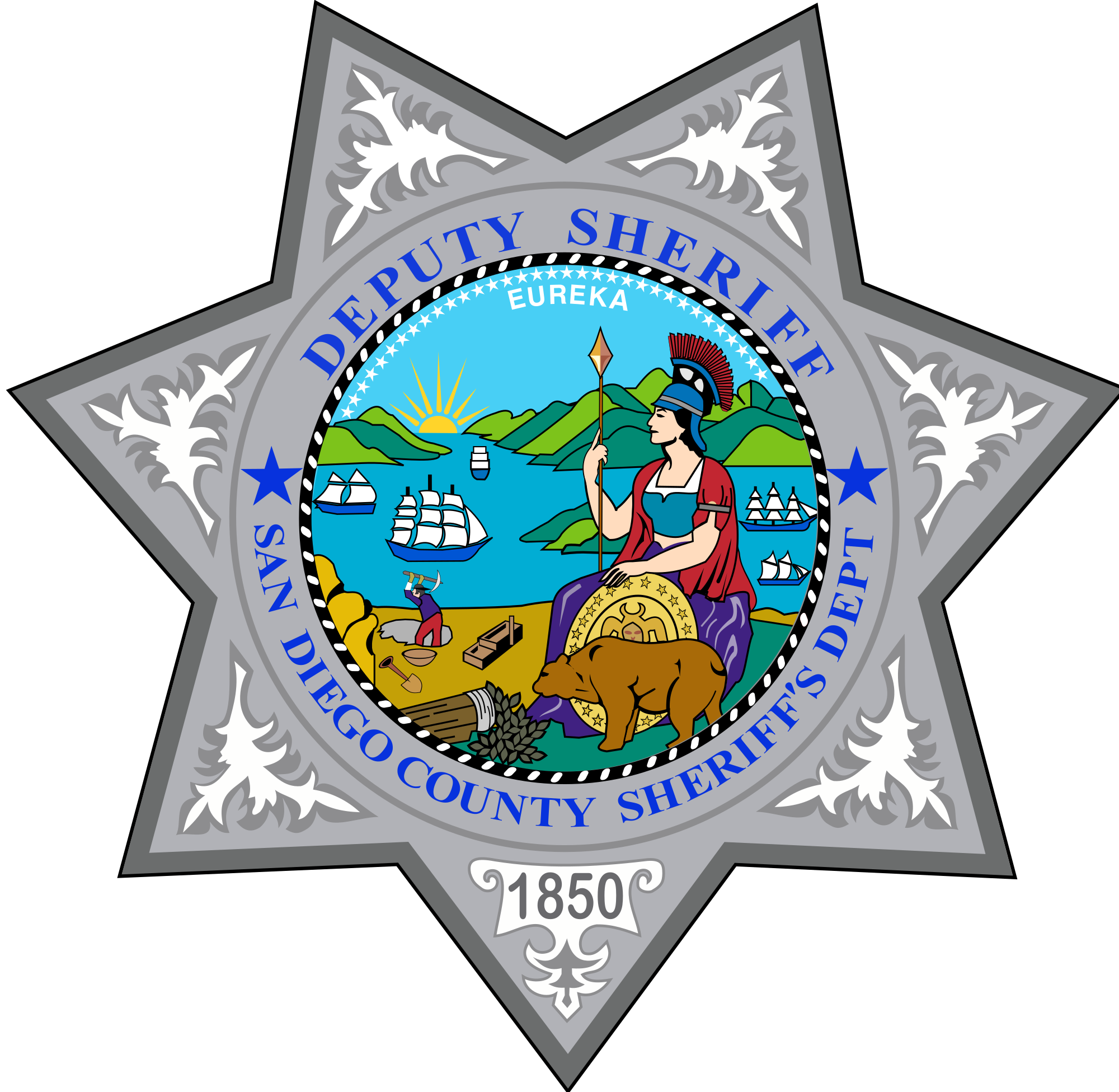Svg star sheriff. File badge of the