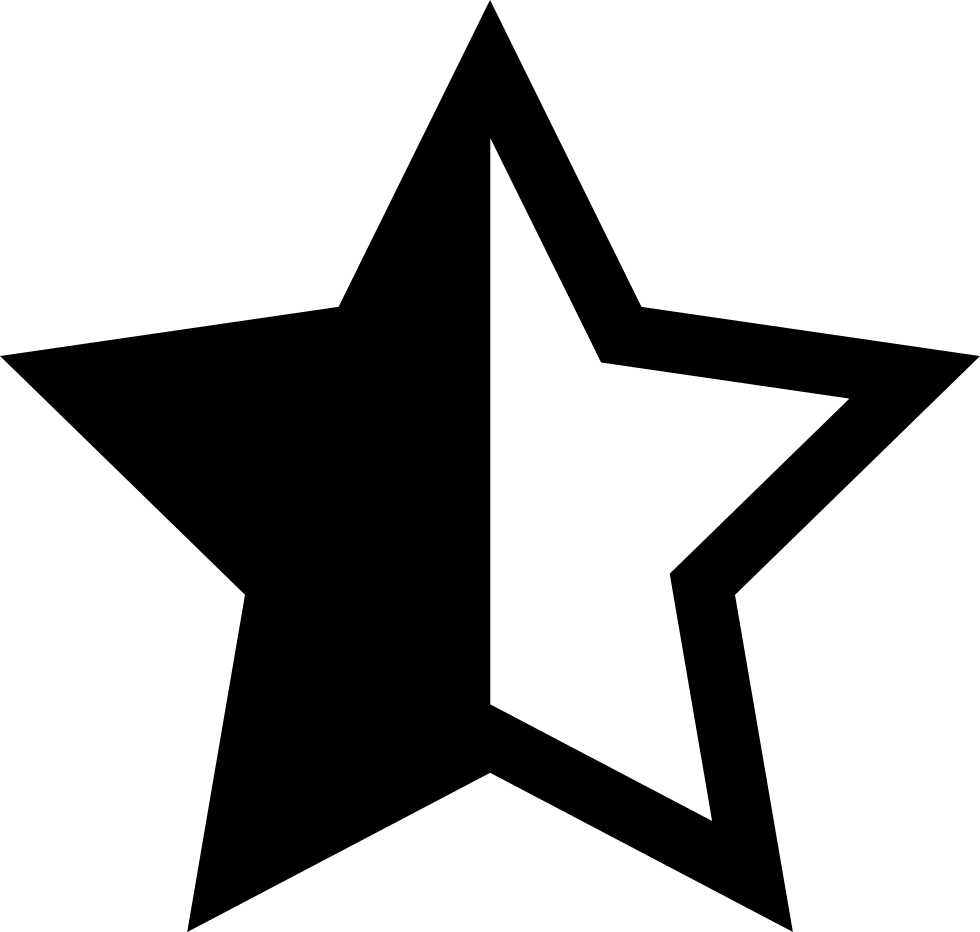 Svg star distressed. Half png icon free
