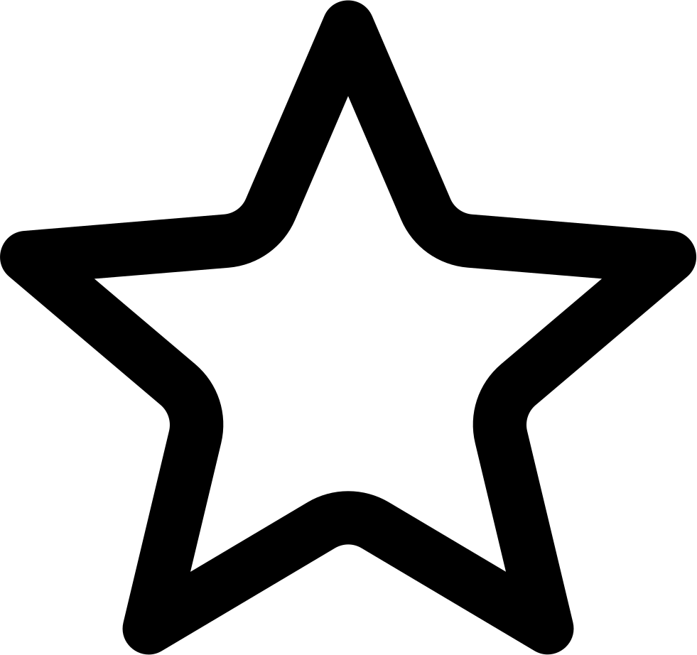Svg star solid. Hollow png icon free