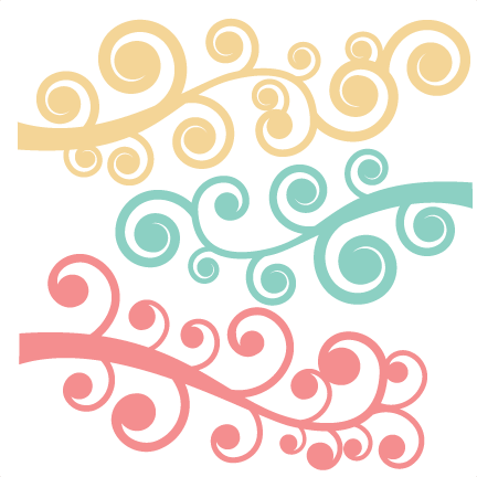 Svg swirls flourish. Swirl set cut files