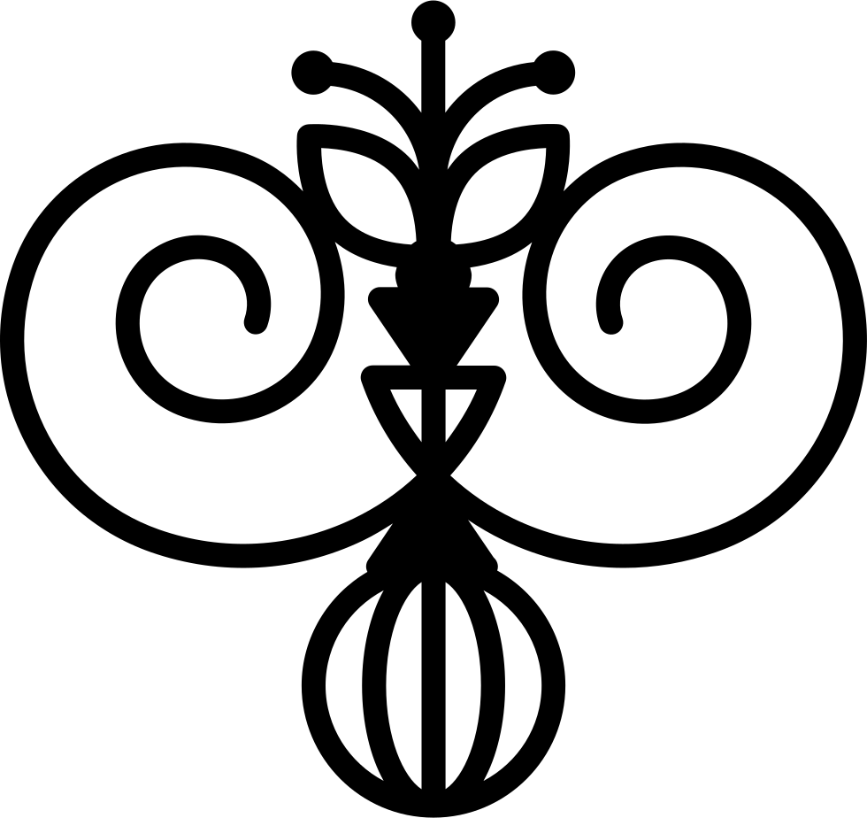Svg swirls icon. Floral design variant with