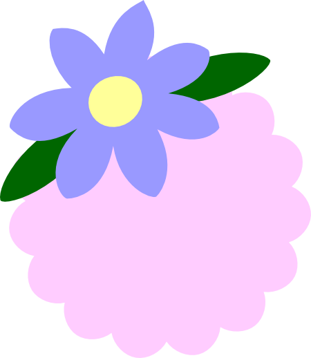 Svg tags. Flower tag file images