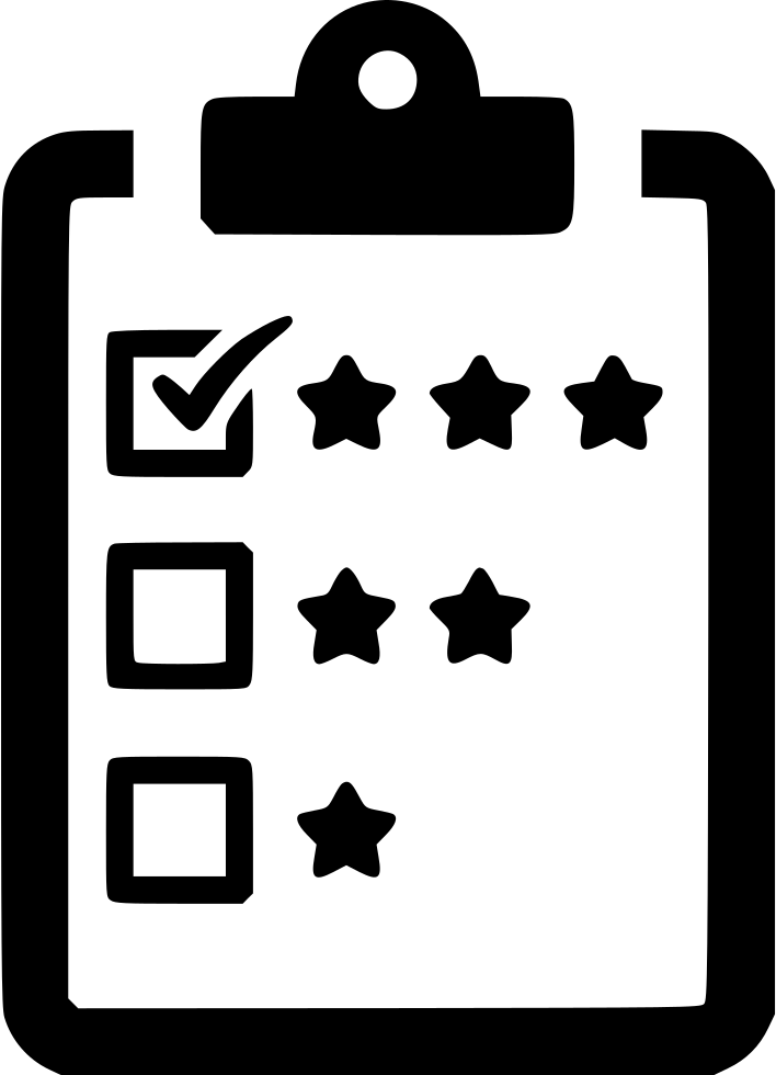 Svg test icon. Feedback poll score questionnaire