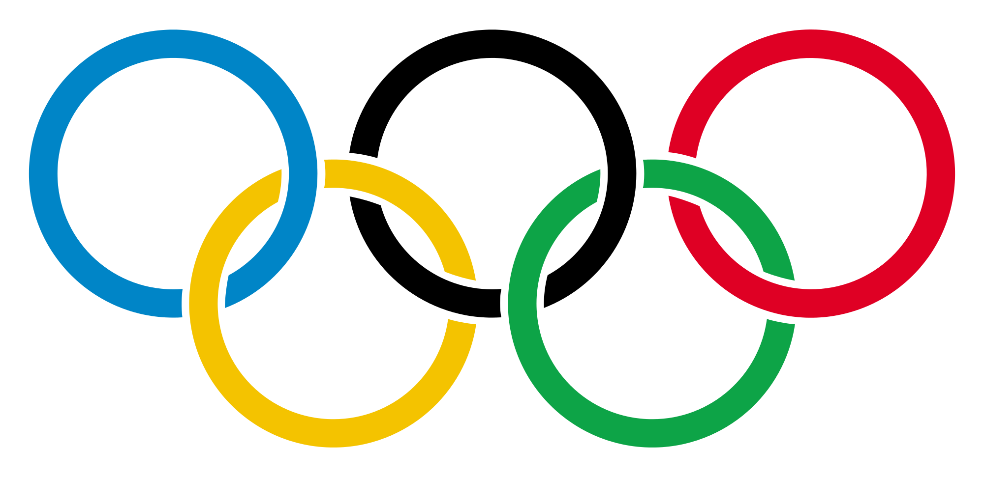 Svg transparency file. Olympic rings with transparent