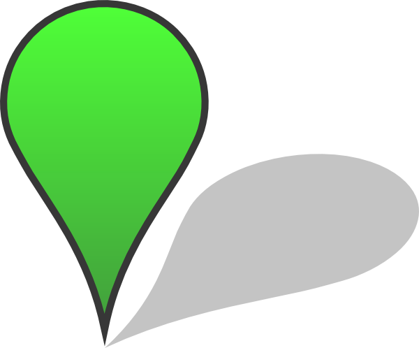 Svg transparency gradient. Green pin shadow clip
