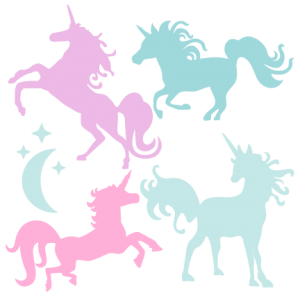 Svg unicorn clip art. Freebie of the day