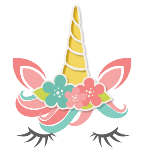 Svg unicorn horn. Free flower available for