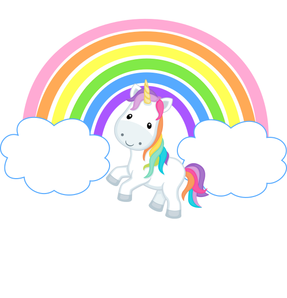 Svg unicorn rainbow. With clouds clip art