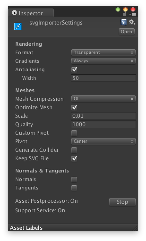 Svg unity mesh. Documentation importer vector graphics