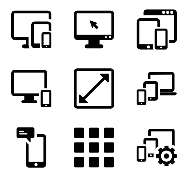 Svg websites responsive. Devices icon packs