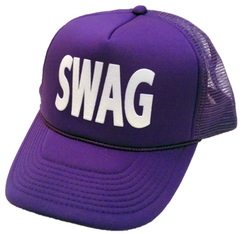 Swag transparent flat bill. Purple hat neon hats