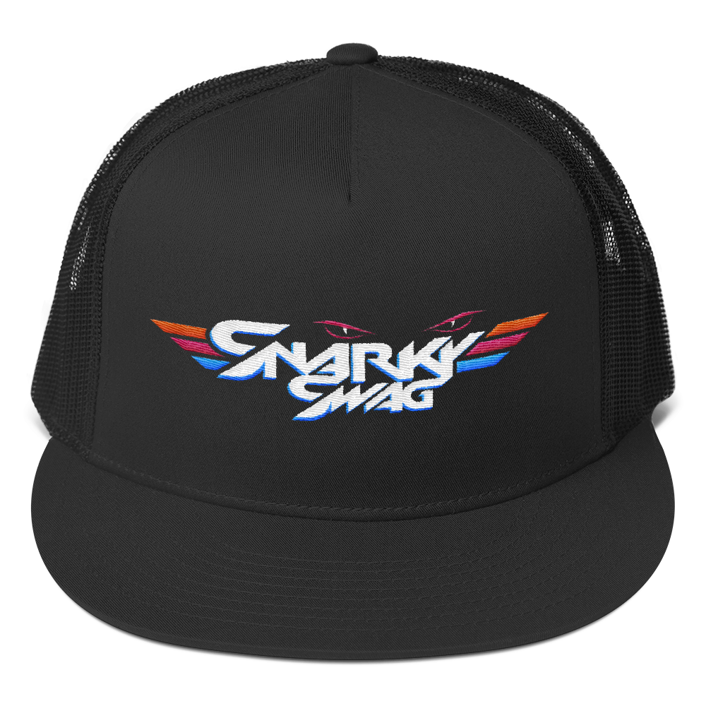 Swag transparent flat bill. Snarky trucker cap original