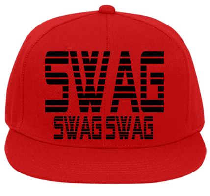 Swag transparent flat bill. On you fitted hats